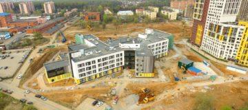 Огнезащита металлоконструкций школы в поселке КОММУНАРКА, Московской области